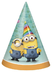 despicable party hats package includes cardboard