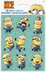 despicable sticker sheets stickers