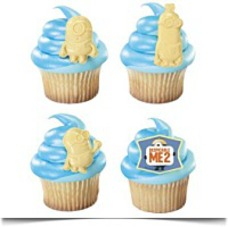 Despicable Me 2 Minion Cupcake Rings
